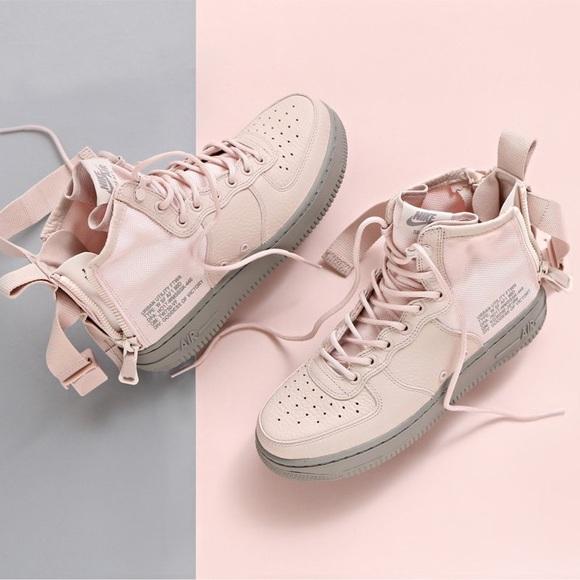 Nike Shoes | Nike Blush Pink Sf Af Mid